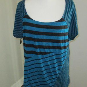 Style & Co. 3X Blue Top with Black Stripes